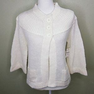 Arizona 3/4 Sleeve Ribbed Yoke Flyaway Cardigan XL